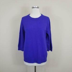 J. Crew Italian Cashmere Tippi Sweater Purple M